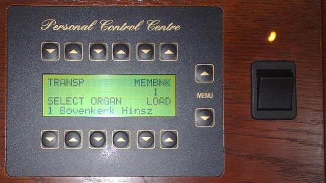 Controle center console.