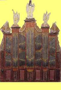 Orgel Bruin met engelen