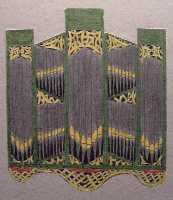 Orgel groen met houtsnijwerk