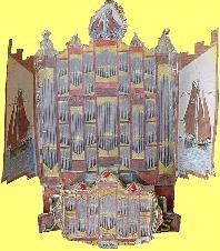 Orgel groot met rugwerk2 en 2 deuren